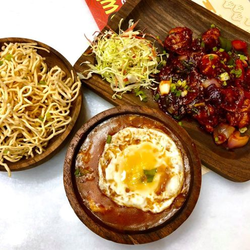 Indo-Chilli Chicken and Chicken American Chopsuey